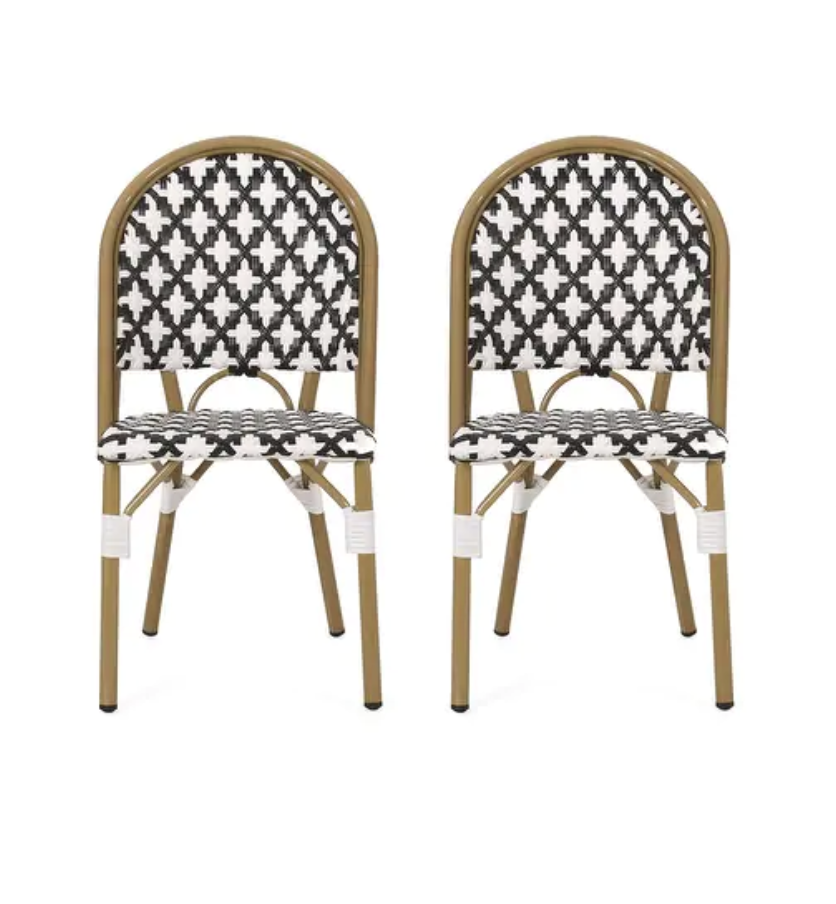 Louna Outdoor French Bistro Chair (Set of 2) by Christopher Knight Home, Serena & Lily Riviera Side Chair Dupes, Serena & Lily Riviera Counter Stool Dupes, Serena & Lily dupes, Serena & Lily look for less, rattan dining chairs, bistro dining chairs, rattan counter stools, bistro counter stools, interior designs, dining chair ideas, counter stool ideas, on trend dining chairs, on trend counter stools, kitchen ideas, kitchen designs, dining room ideas, Red Soles and Red Wine, Jennifer Worman