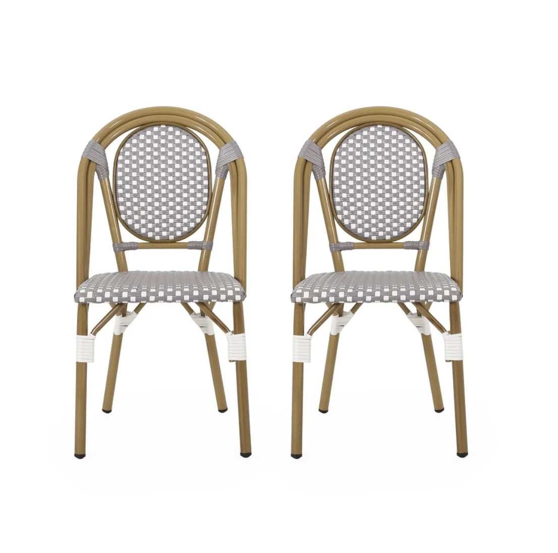 Remi Outdoor French Bistro Chairs (Set of 2) by Christopher Knight Home, Serena & Lily Riviera Side Chair Dupes, Serena & Lily Riviera Counter Stool Dupes, Serena & Lily dupes, Serena & Lily look for less, rattan dining chairs, bistro dining chairs, rattan counter stools, bistro counter stools, interior designs, dining chair ideas, counter stool ideas, on trend dining chairs, on trend counter stools, kitchen ideas, kitchen designs, dining room ideas, Red Soles and Red Wine, Jennifer Worman