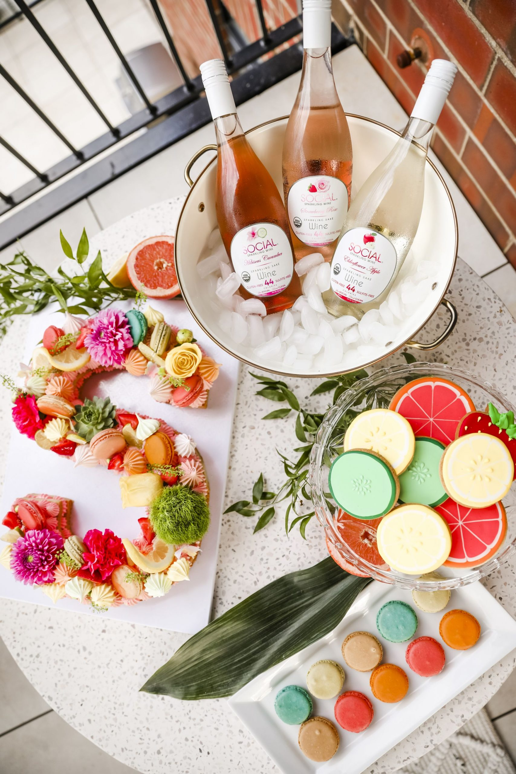 vanille patisserie, best dessert table, social sparkling wine, best patio party, macaron letter cake, Jennifer Worman, chicago home
