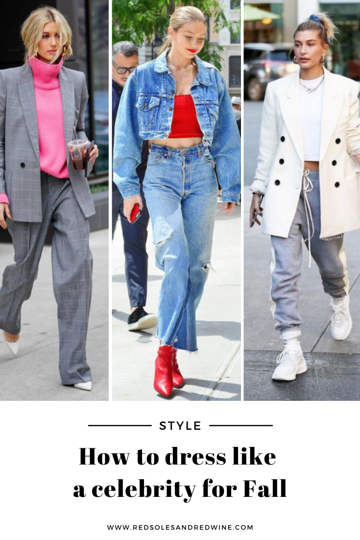 How to dress like a celebrity for Fall,Gigi Hadid Fall Denim Inspiration, Gigi Hadid style, Gigi Hadid outfits, outfit ideas for women, fall outfit ideas for women, best denim for Fall, fall denim trends, fall 2020 denim trends, denim outfit ideas for fall, Hailey Bieber Fall Blazer Inspiration,Hailey Bieberstyle,Hailey Bieberoutfits, outfit ideas for women, fall outfit ideas for women, best blazers for Fall, fall blazer trends, fall 2020 blazer trends, blazer outfit ideas for fall, how to style a blazer for Fall, fall outerwear outfit ideas, best layer for fall, fall layered outfits, Jennifer Worman, Red Soles and Red Wine