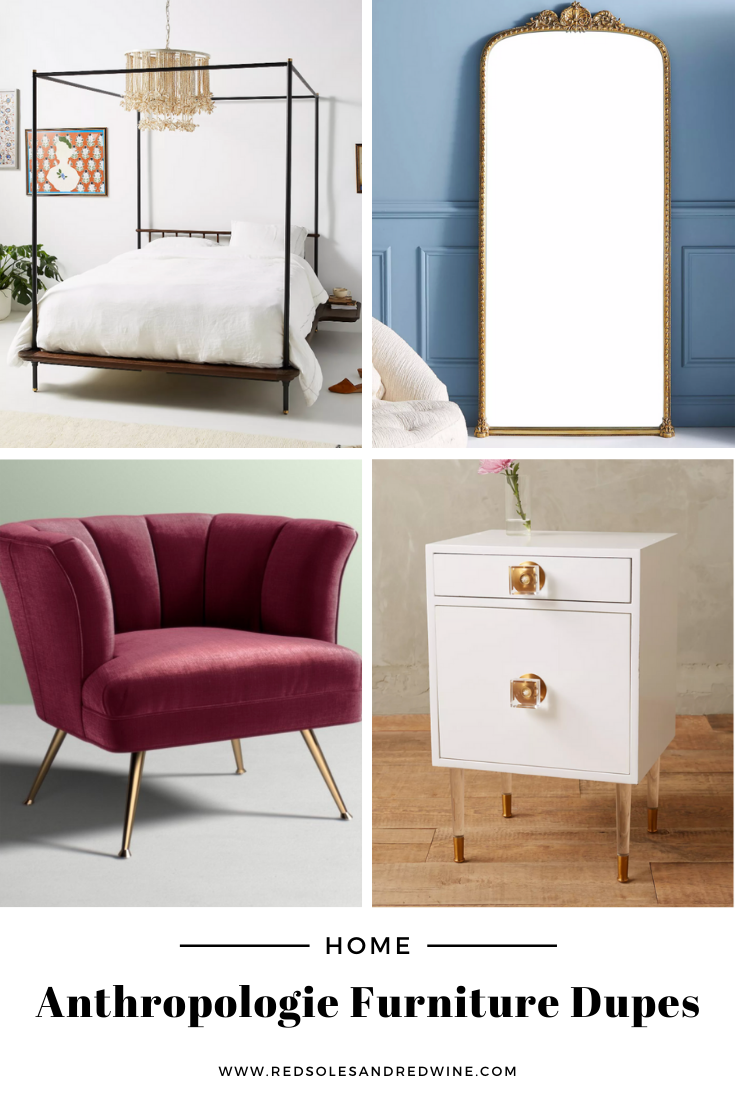 Anthropologie furniture dupes, best dupes for anthropologie, affordable anthropologie dupes, Red Soles and Red Wine, Jennifer Worman