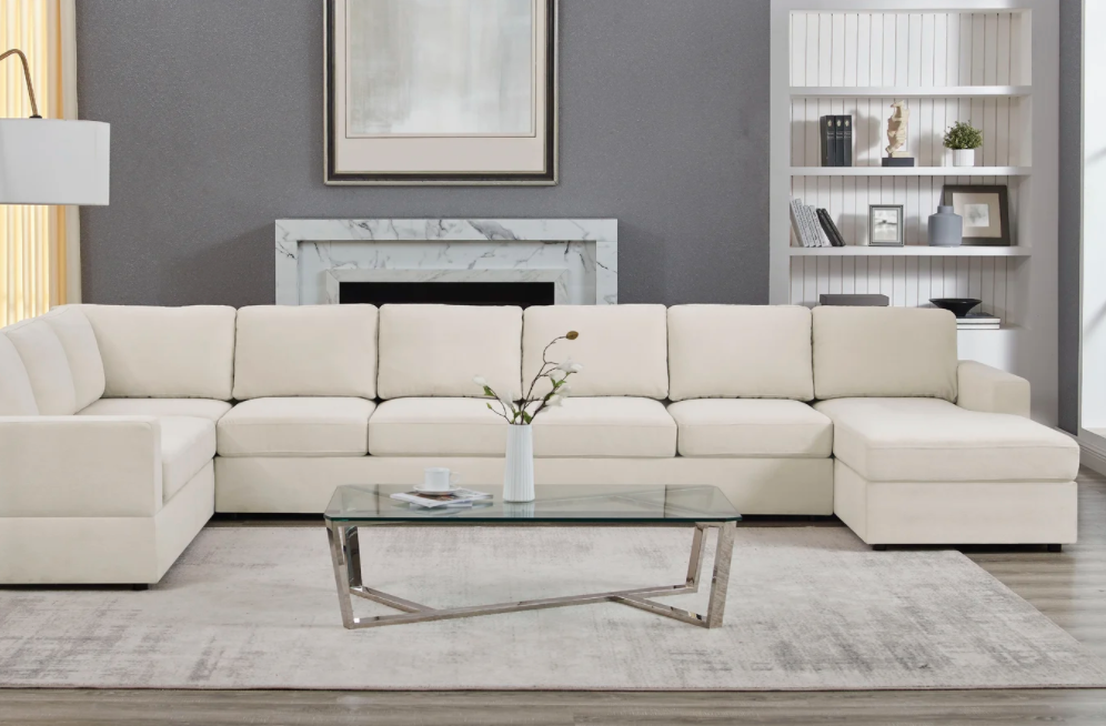 Wayfair Aasif 161 Wide Sofa & Chaise, Dupes for the Restoration Hardware cloud couch, RH cloud couch dupes, affordable versions of the Restoration Hardware cloud couch, modular sofa dupes, restoration hardware cloud sofa, CLOUD MODULAR SOFA CHAISE SECTIONAL, restoration hardware dupes, affordable sectional sofas, Red Soles and Red Wine, Jennifer Worman