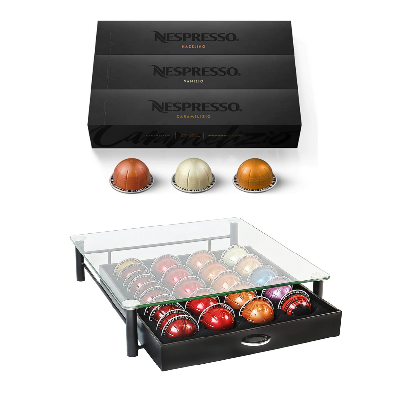 Nespresso pods, nespresso pods organizer, Nespresso pods holder, must have kitchen tools, kitchen items I can't live without, kitchen tools I use daily, most used kitchen items, gift ideas for someone who loves to cook, home items, home gift ideas, kitchen gift ideas, gifts for the hostess, gifts for the coffee lover, Red Soles and Red Wine, Jennifer Worman