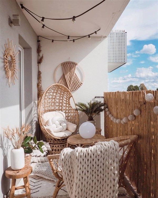 egg chair inspiration, egg chair home ideas, egg chairs, wicker egg chairs, hanging egg chairs, interior, home decor, home interior, interior styling, target dupes, patio furniture, patio furniture inspiration, backyard styling, egg chair patio style, egg chair styling inspiration, Target Southport Patio Egg Chair, Target Southport Patio Egg Chair dupes, affordable dupes for the Target Southport Patio Egg Chair, balcony styling, egg chair balcony style