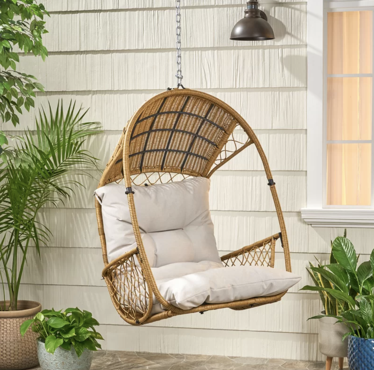 Berkshire Swing Chair With Cushion, Target Southport Patio Egg Chair, Target Southport Patio Egg Chair dupes, affordable dupes for the Target Southport Patio Egg Chair, egg chair inspiration, egg chair home ideas, egg chairs, wicker egg chairs, hanging egg chairs, target dupes, target furniture dupes, target patio furniture, Red Soles and Red Wine