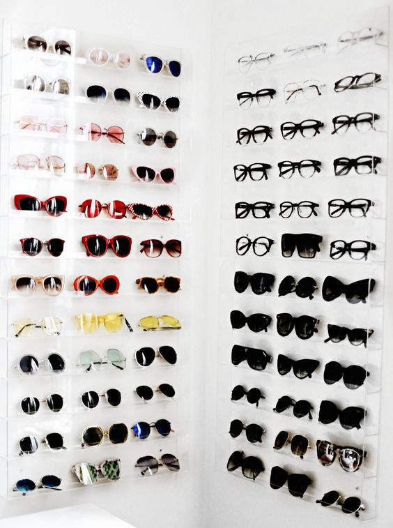 sunglasses storage inspiration, how to organize sunglasses, sunglasses organization inspiration, sunglasses display inspiration, accessories organization, closet organization ideas, accessories storage ideas, affordable accessories storage, DIY sunglasses display, Jennifer Worman, Red Soles and Red Wine