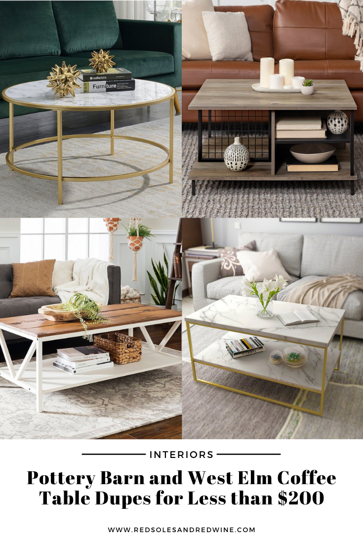 pottery barn coffee table dupe, west elm coffee table dupe, look for less, coffee table under $200, interior finds, living room, cute coffee tables, Red Soles and Red Wine, Jennifer Worman