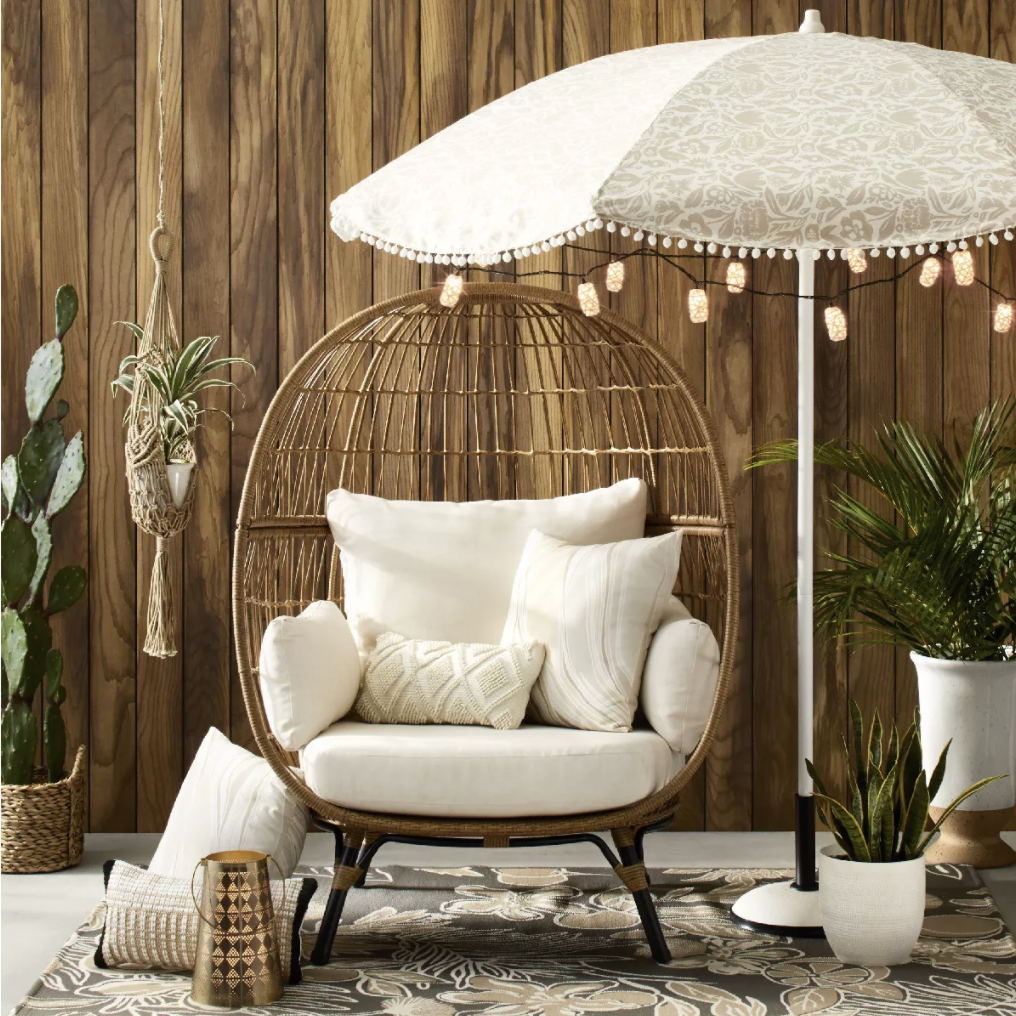 Target Southport Patio Egg Chair,Target Southport Patio Egg Chair dupes 2021, affordable dupes for theTarget Southport Patio Egg Chair 2021, egg chair inspiration, egg chair home ideas, egg chairs, wicker egg chairs, hanging egg chairs,interior, home decor, home interior, interior styling, target dupes, patiofurniture, patio furnitureinspiration, Red Soles and Red Wine