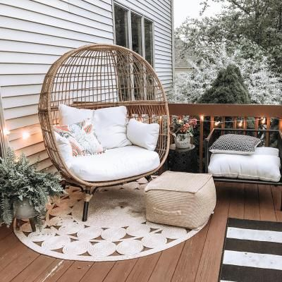 egg chair inspiration, egg chair home ideas, egg chairs, wicker egg chairs, hanging egg chairs, interior, home decor, home interior, interior styling, target dupes, patio furniture, patio furniture inspiration, backyard styling, egg chair patio style, egg chair styling inspiration, Target Southport Patio Egg Chair, Target Southport Patio Egg Chair dupes, affordable dupes for the Target Southport Patio Egg Chair