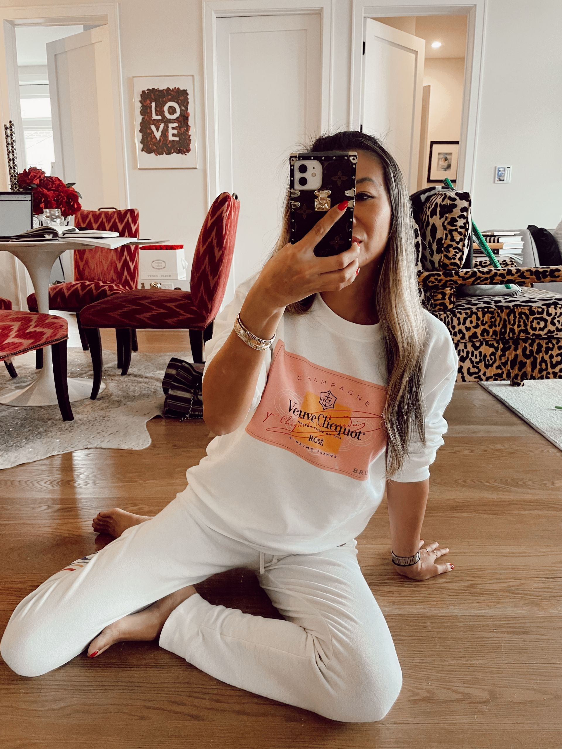 Veuve Rose Pullover, Valentine's Day Gift Guides, Vday gift guide, affordable vday gifts, gift ideas for girlfriends, valentine's day style ideas, Red Soles and Red Wine, Jennifer Worman