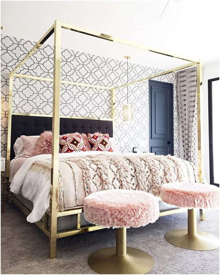 glam canopy bed frames, Gold canopy bedroom ideas, gold canopy bed frame bedroom ideas, gold canopy bedroom ideas bed frames, glam canopy bed frame inspiration,clear canopy bedroom ideas, black canopy bedroom ideas, gold canopy bed frame inspiration, girly bedroom style inspiration, glam bedroom inspiration, luxed bedroom style, luxe bedroom ideas, stylish bedroom ideas, lucite canopy bedroom ideas
