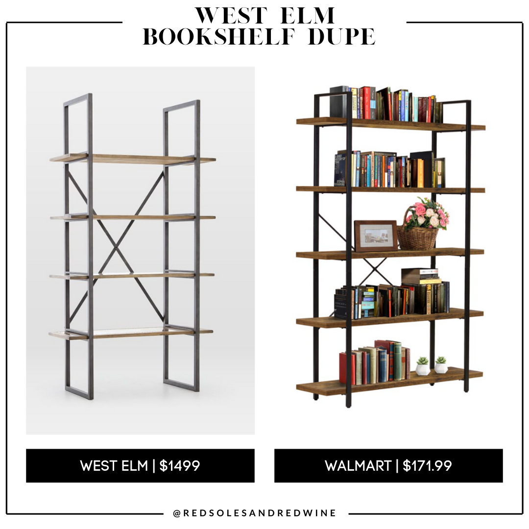 West Elm Modern Mixed Material Bookshelf dupe