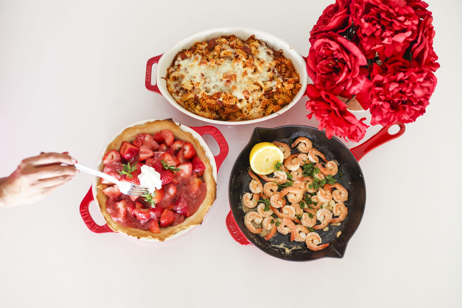 Staub cookware, mother's day gift ideas, best affordable cookware, durable cookware, mother's day gifts, cooking gifts, gifts for moms who love to cook, kitchen essentials, must have cookware, easy recipes for moms, recipes to cook with your kids, recipe ideas, beginner recipe ideas Jennifer Worman, Red Soles and Red Wine