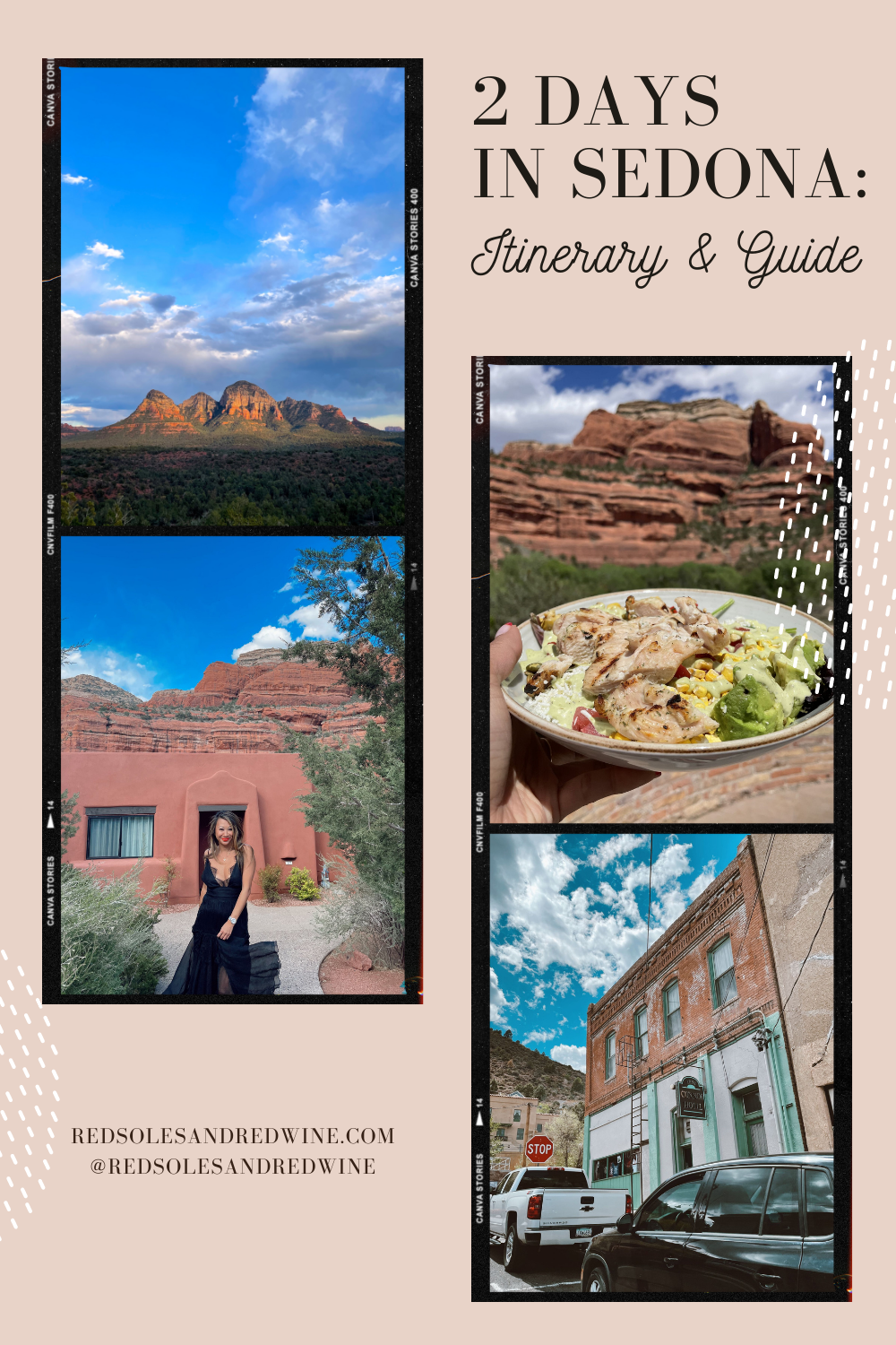 2 days in Sedona Itinerary and Guide, Sedona weekend trip, Sedona travel guide, Sedona travel itinerary, Sedona Arizona travel guide, Sedona Arizona trip, where to stay for a long weekend in Sedona, what to do for a weekend in Sedona Arizona, travel blogger, travel diary, travel photography, travel journal, Red Soles and Red Wine, Jennifer Worman