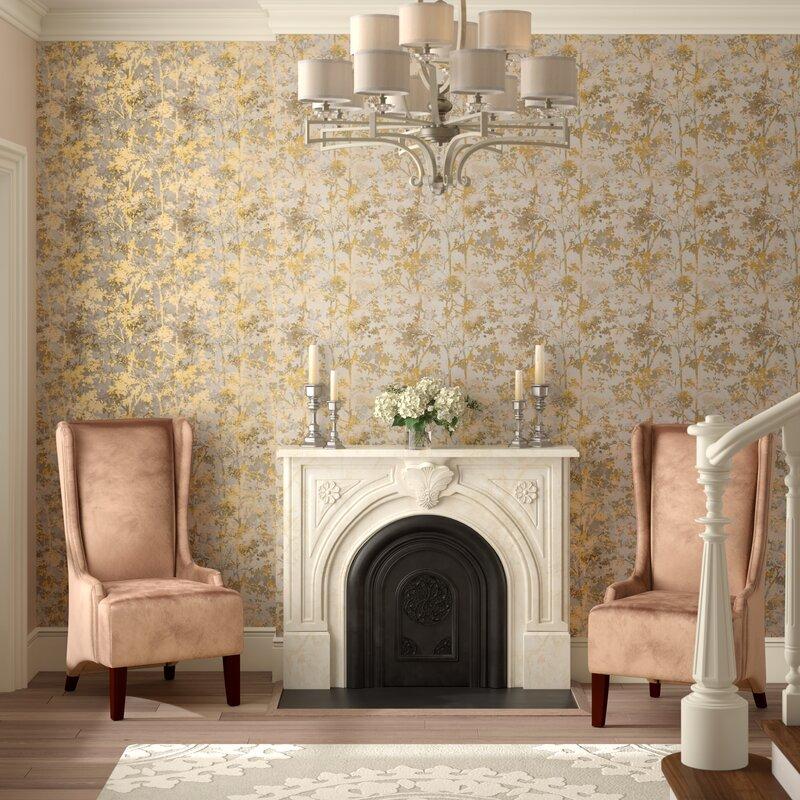 gold wallpaper, metallic wallpaper, gold foil wallpaper, neutral wallpaper, entryway wallpaper, entryway wallpaper ideas