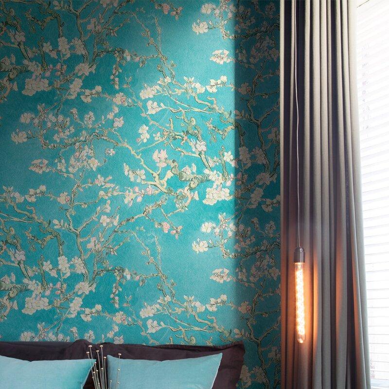 floral wallpaper ideas, entryway wallpaper, entryway wallpaper ideas, floral design wallpaper, accent wall ideas