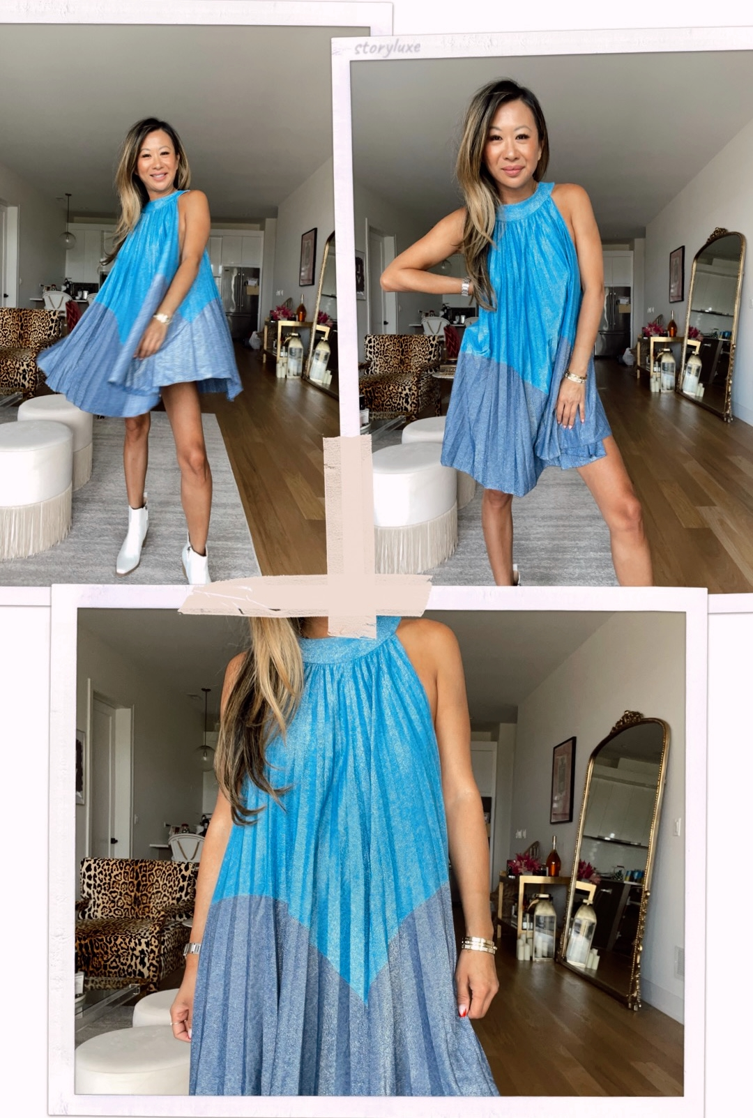 Free People Womens Pleated Love Metallic Mini Dress, Free People dress, summer dress ideas, summer dress outfit ideas, white boots and dress outfit, Walmart outfits, Walmart style, Affordable Summer Outfits from Walmart