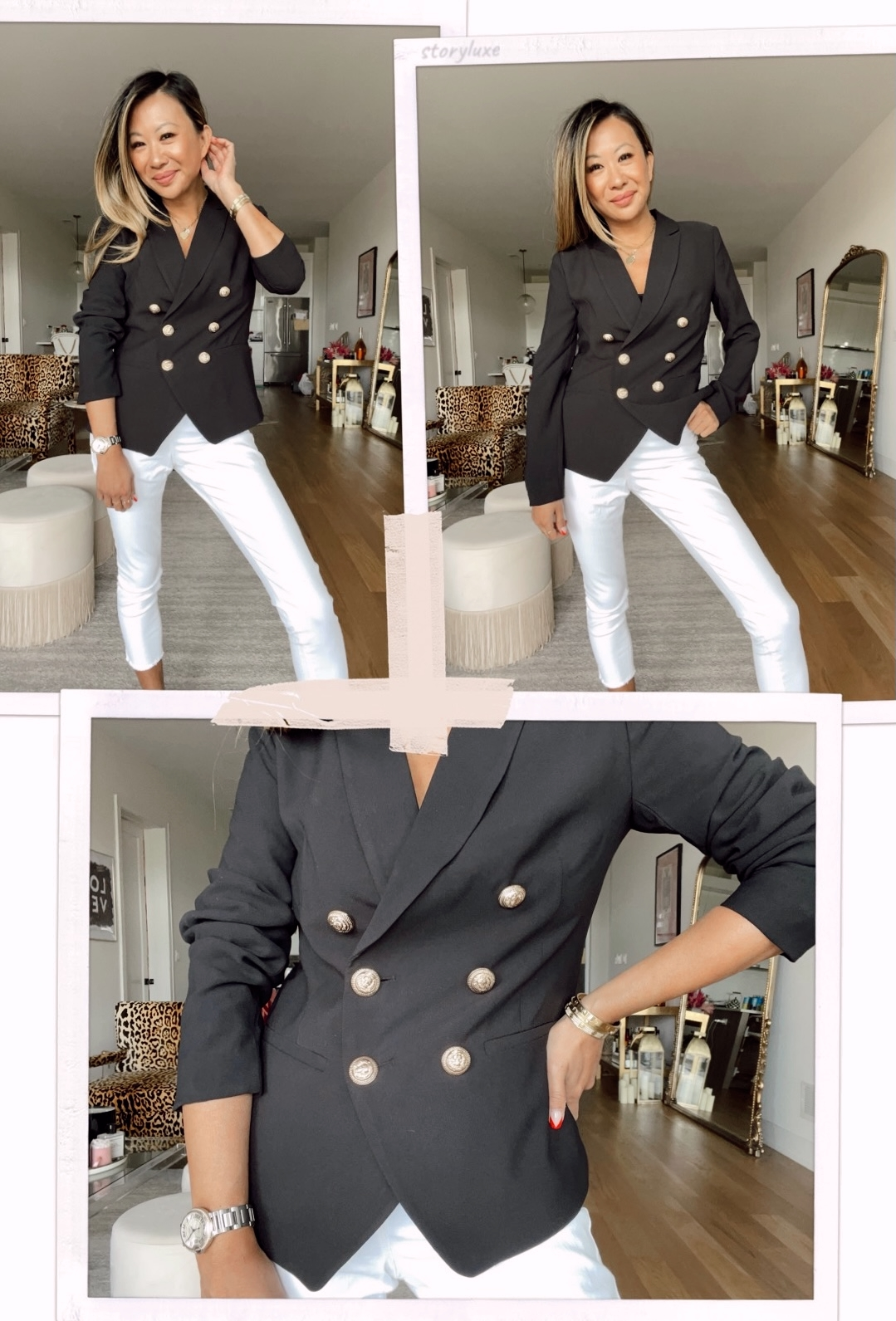 Scoop Women's Double Breasted Crepe Blazer, office outfit ideas, work outfit ideas, Walmart style, walmart blazer, walmart outfit ideas, what to wear to work