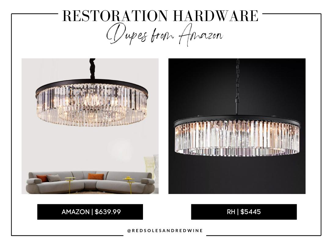 RH chandelier dupe from amazon, RH chandelier dupes, RH crystal chandelier dupe, affordable crystal chandelier, amazon crystal chandelier