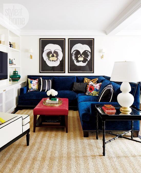 velvet sectional inspiration, velvet sofa styling inspiration, glam living room sectional sofa, glam living room inspiration, interior design, living room design, sectional sofa styling, sectional couch inspiration, Red Soles and Red Wine