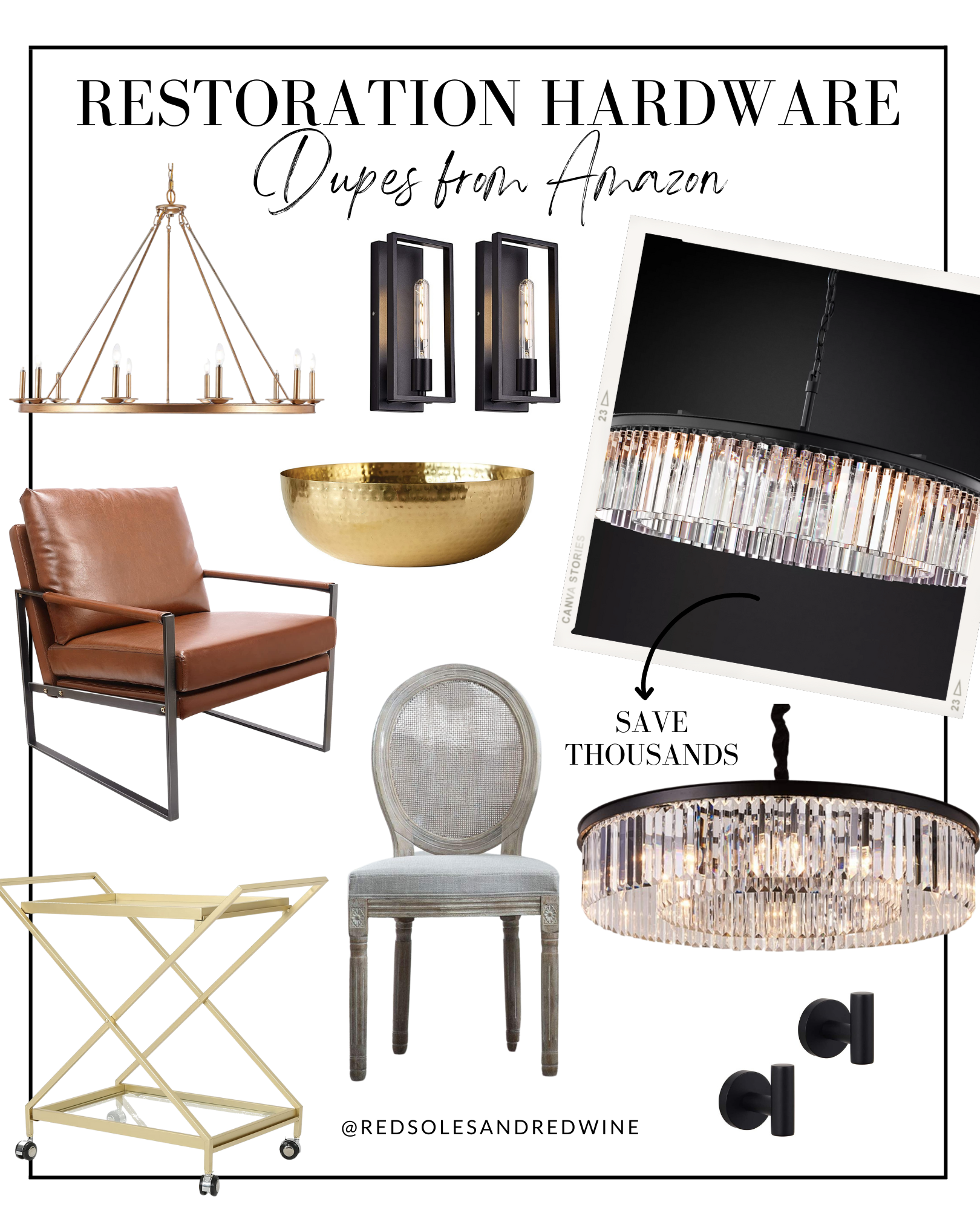 restoration hardware dupes from amazon, RH dupes, RH furniture dupes, RH lighting dupes, RH home decor dupes, amazon finds, affordable amazon finds, restoration hardware look for less