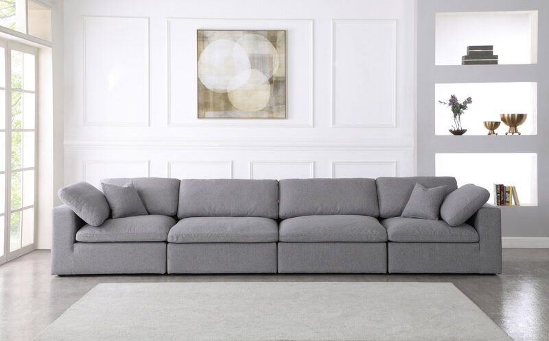 Aguero 158'' Square Arm Modular, Dupes for the Restoration Hardware cloud couch, RH cloud couch dupes, affordable versions of the Restoration Hardware cloud couch, modular sofa dupes, restoration hardware cloud sofa, CLOUD MODULAR SOFA CHAISE SECTIONAL, restoration hardware dupes, affordable sectional sofas, Red Soles and Red Wine, Jennifer Worman